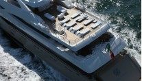 The luxury yacht Darlings Danama - view from above